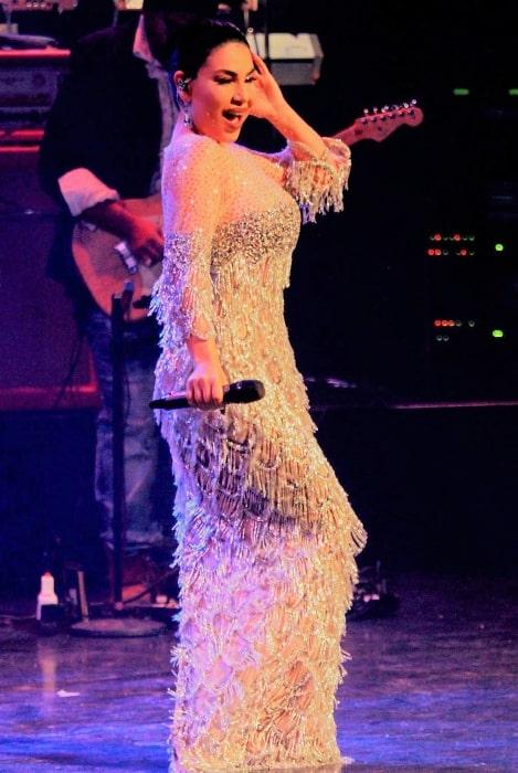 Aryana Sayeed performing in 2019