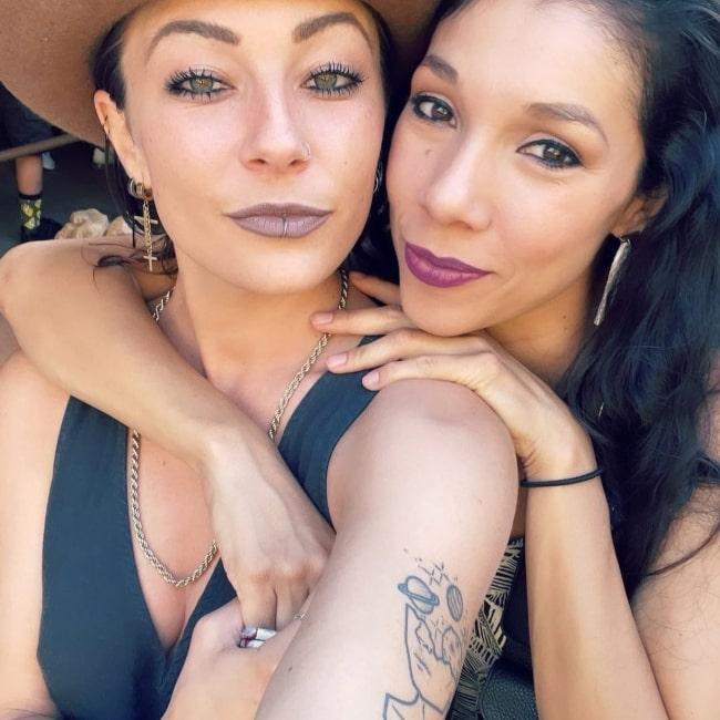 Ashlee Nino as seen in a selfie that was taken with her girlfriend mlcornel in July 2021