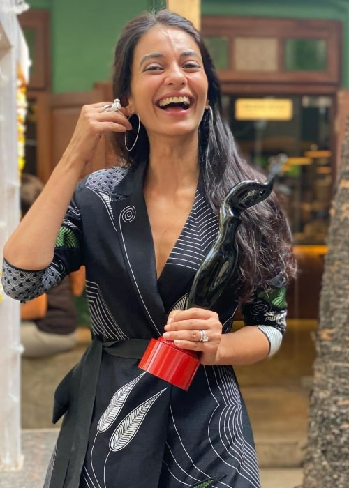 Ayesha Khanna as seen in a picture that was taken in Taj Lands End, Mumbai in January 2021