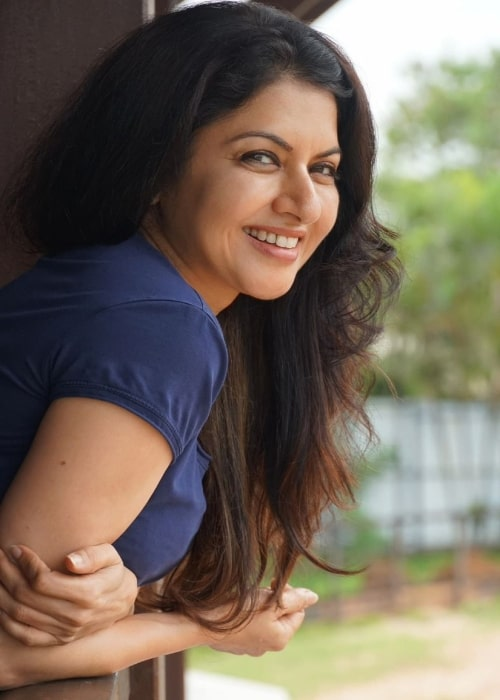 Bhagyashree as seen in a picture that was taken in July 2021