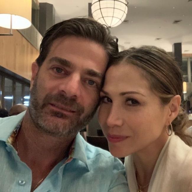 Bianca Marroquin as seen in a selfie with her husband Joseph Schottland in June 2021