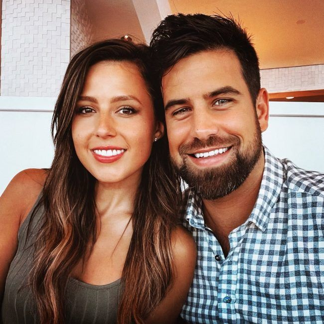 Blake Moynes and Katie Thurston as seen in August 2021