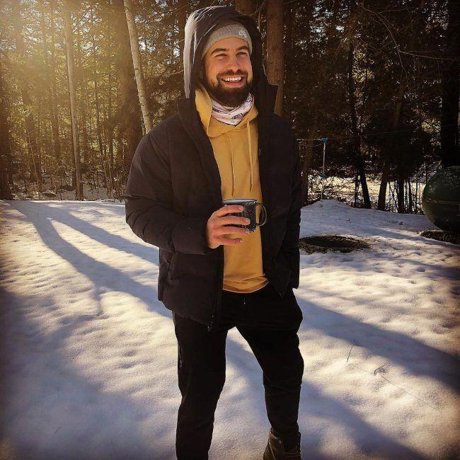 Blake Moynes as seen smiling in December 2020