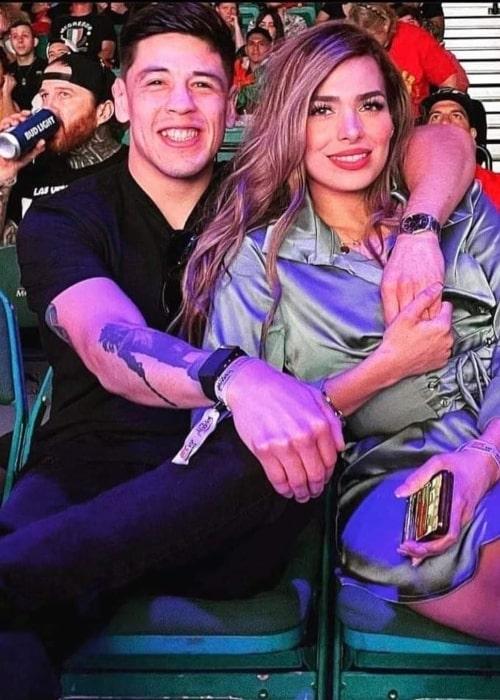 Brandon Moreno and Shirley Moreno, as seen in June 2021