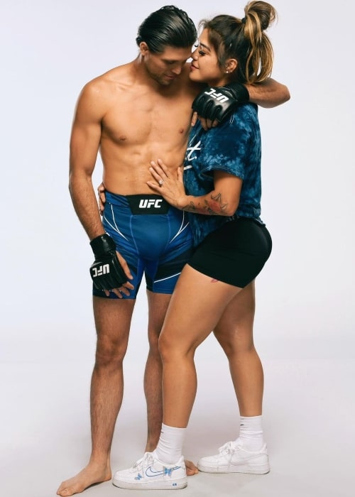 Brian Ortega and Tracy Cortez, as seen in September 2021