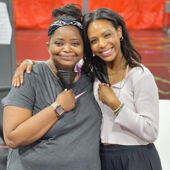 Britt Stewart as seen in a picture that was taken with Octavia Spencer in the past