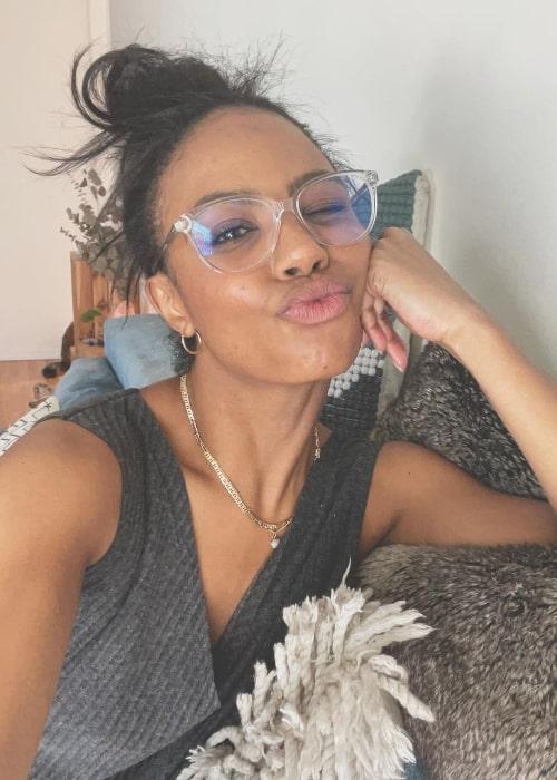 Britt Stewart as seen in a selfie that was taken in July 2021