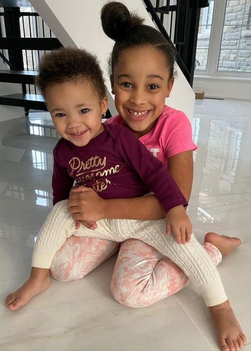 Cali Rush as seen in a picture with her younger sister Kirah Dior Rush in February 2020