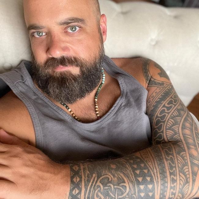 Carl Olinselot as seen in a selfie that was taken in June 2021