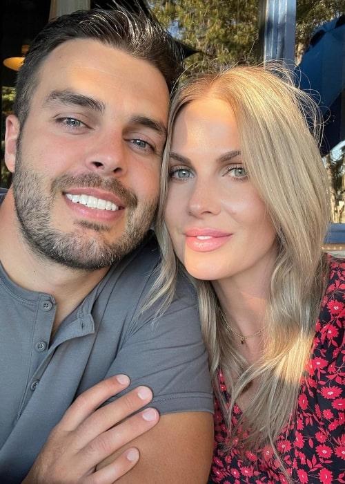 CarlieStylez as seen in a selfie that was taken with her husband Jackson Wood in June 2021