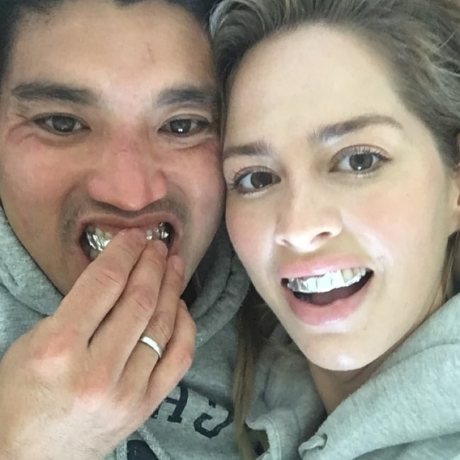 Chad Hugo as seen in a selfie with his wife Priscilla in November 2017