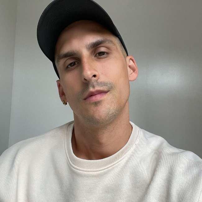 Cody Rigsby as seen in a selfie taken in May 2021