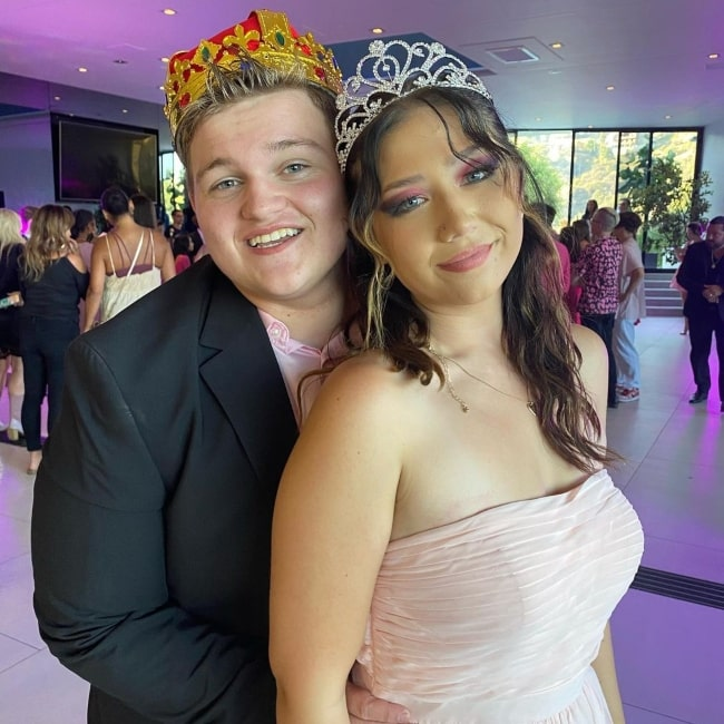 Connor Cain in July 2021 having fun at Pink Prom with his sweetheart