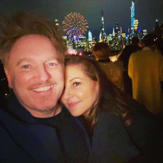 Dan Finnerty as seen in a selfie that was taken with his wife Kathy Najimy in January 2020