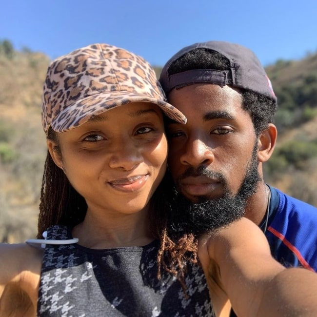 Daniel Augustin and his wife Sh'Kia Augustin as seen in a selfie that was taken at Griffith Park in October 2020