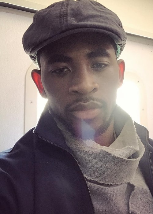 Daniel Augustin as seen in a selfie that was taken in August 2017, at Miami Design District