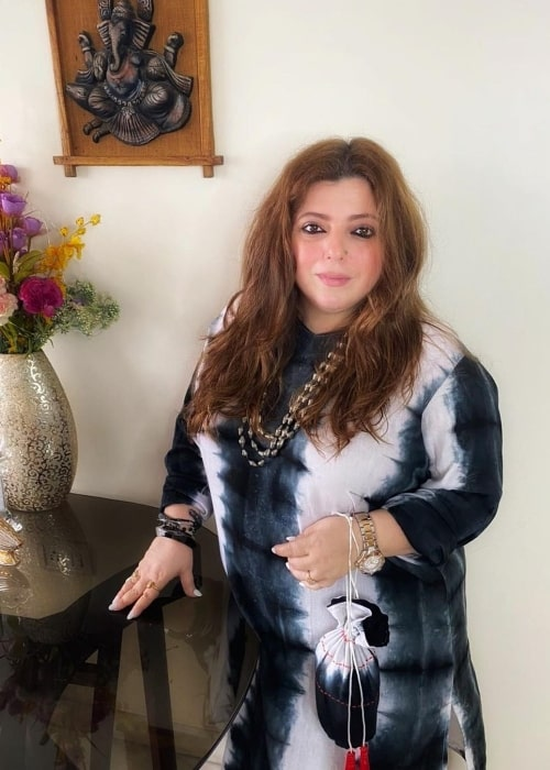 Delnaaz Irani smiling for a picture in August 2021