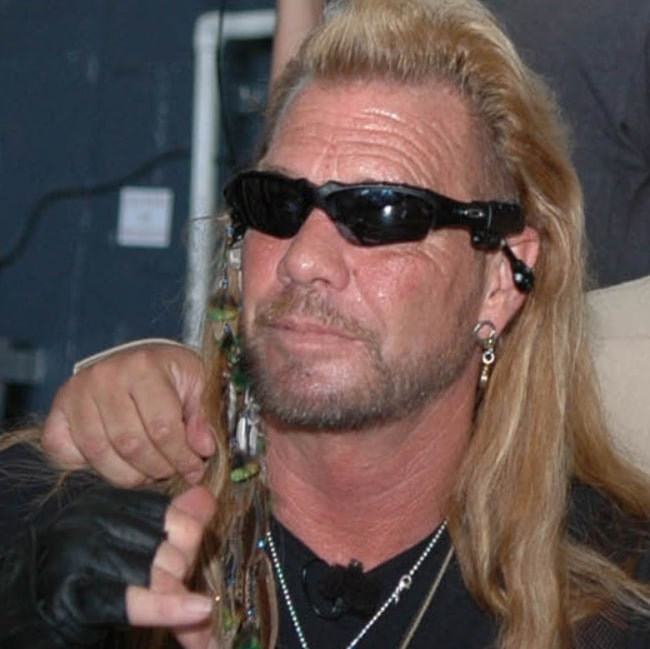 Duane Chapman pictured during his visit aboard the nuclear-powered aircraft carrier USS Nimitz (CVN 68) on May 20, 2005