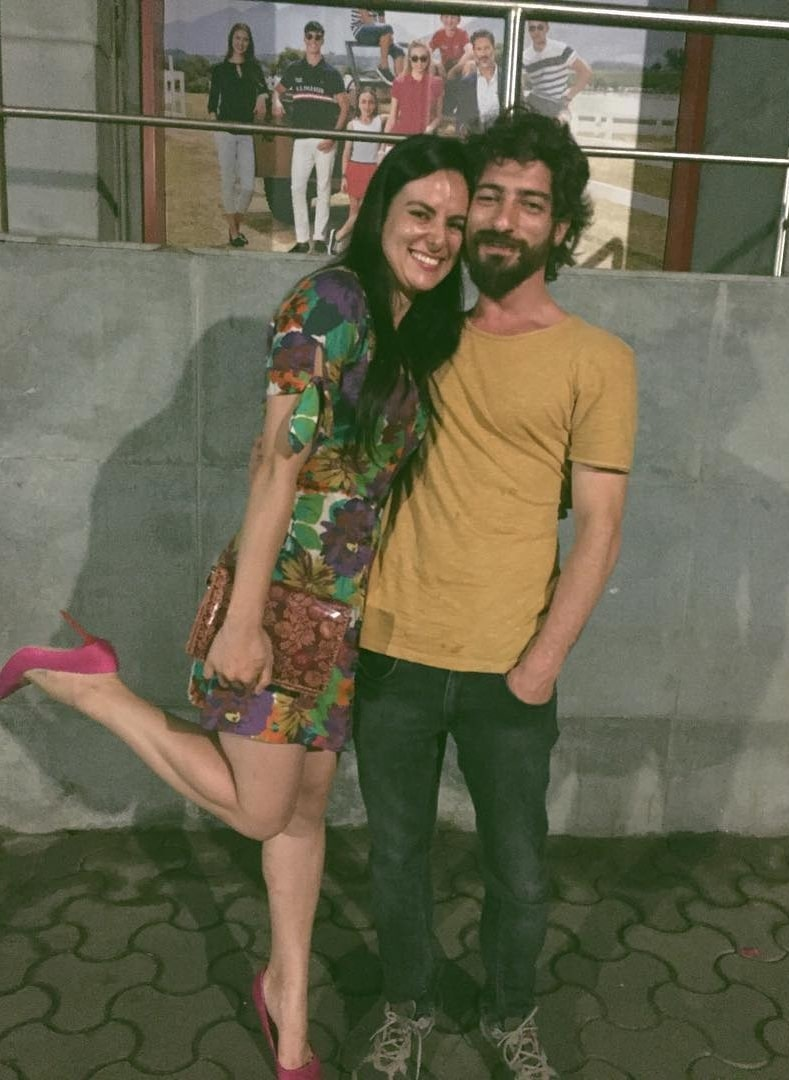 Elena Kazan as seen in a picture that was taken with Ragıb Metin Okutay in August 2018