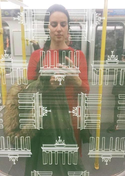 Elena Kazan as seen in a selfie that was taken in February 2018