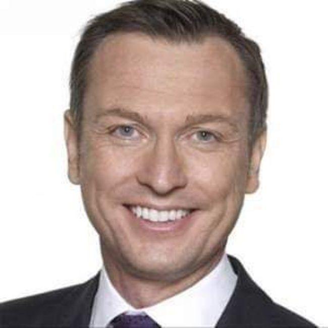 English news presenter Stephen Dixon