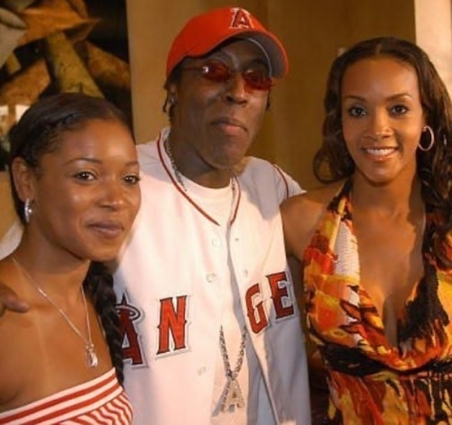 From Left to Right - Tamala Jones, Arsenio Hall, and Vivica A. Fox as seen during an event in Beverly Hills, California