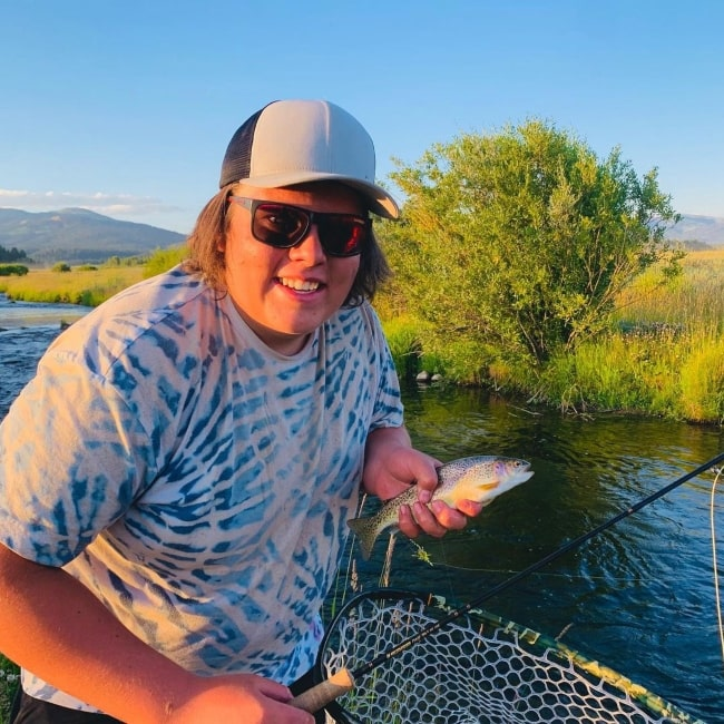 Gavin Butler as seen in a picture that was taken while fishing with CaseyLaVere at Island Park, Idaho in August 2020