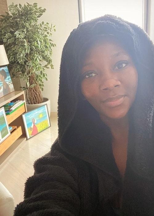 Genevieve Nnaji as seen in a selfie that was taken in November 2020