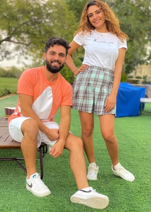 Ghaith Marwan as seen in a picture with TikTok star Raghda Kouyoumdjian in Dubai, United Arab Emirates in March 2021