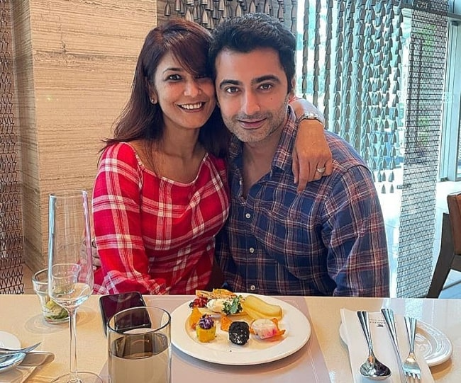Harshad Arora enjoying brunch with his sweetheart in January 2021