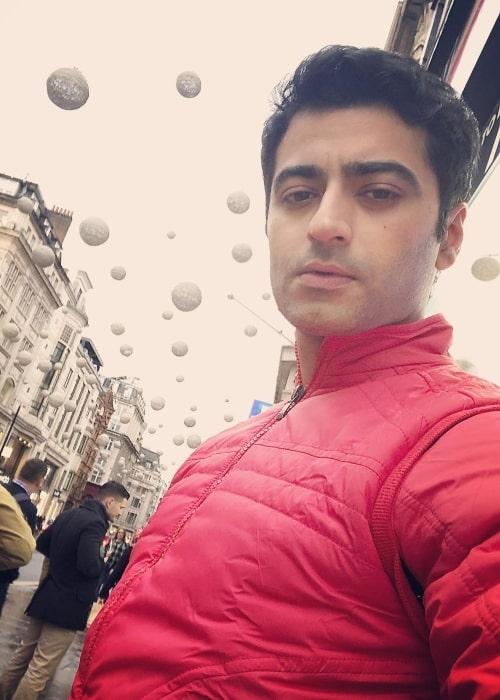 Harshad Arora exploring Oxford Street in London in January 2019