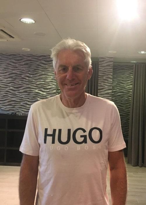 Hugo Broos as seen in an Instagram Post in July 2019