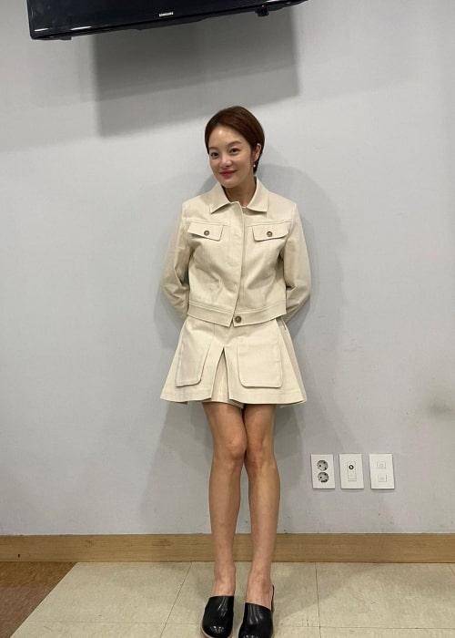 Hwang Bo-ra as seen in an Instagram post in August 2021