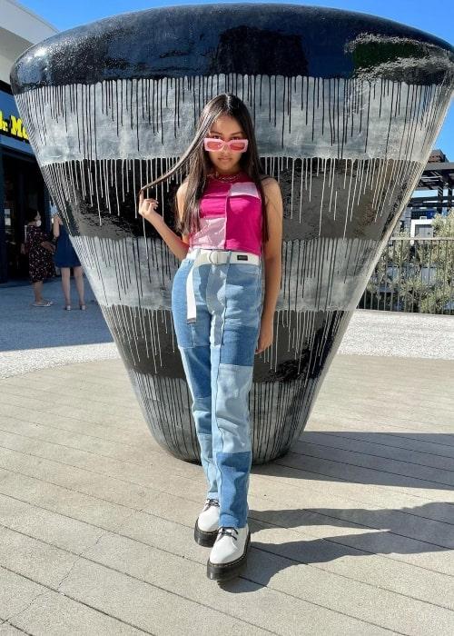 Isabella Leon as seen in a selfie that was taken in September 2021