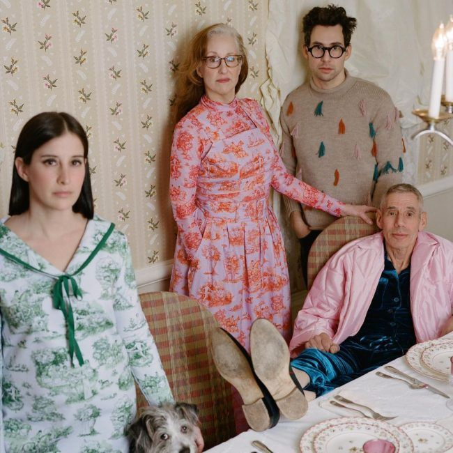 Jack Antonoff as seen with his family in April 2021