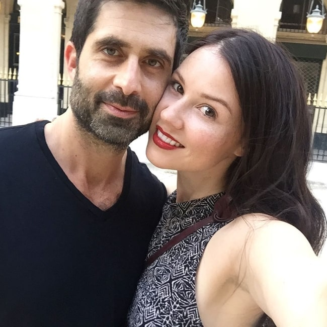 Jenn Proske as seen in a selfie with her husband actor Stephen Schneider in June 2017