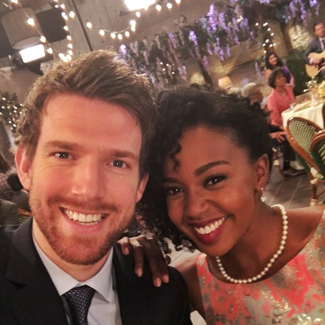 Jerrika Hinton as seen in a picture that was taken with actor Jono Kenyon in April 2016