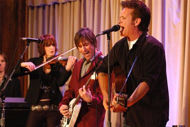 John Mellencamp (right) seen performing at Walter Reed Army Medical Center in 2007