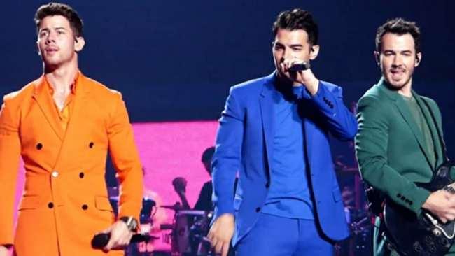 Jonas Brothers seen performing in August 2019