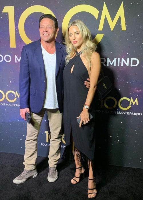 Jordan Belfort and Cristina Invernizzi, as seen in August 2021
