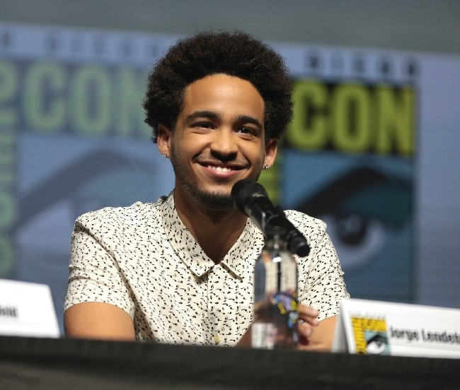 Jorge Lendeborg Jr. as seen while speaking at the 2018 San Diego Comic Con International, for 'Bumblebee', at the San Diego Convention Center in San Diego, California