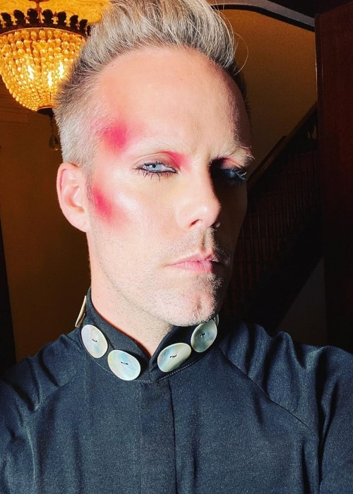 Justin Tranter as seen in a selfie that was taken in Febuary 2020
