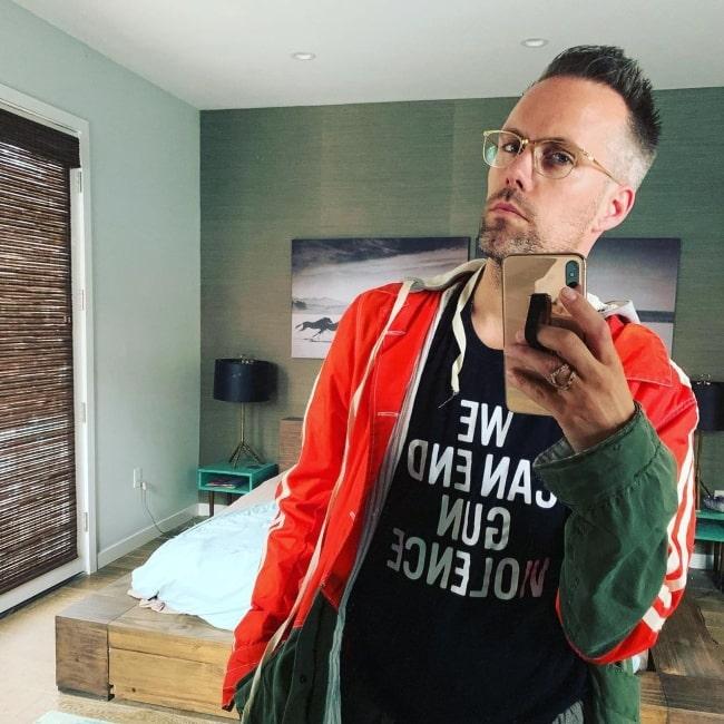 Justin Tranter as seen in a selfie that was taken in June 2019
