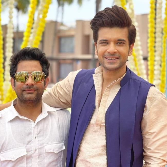 Karan Kundrra (Right) and Parvez in May 2021