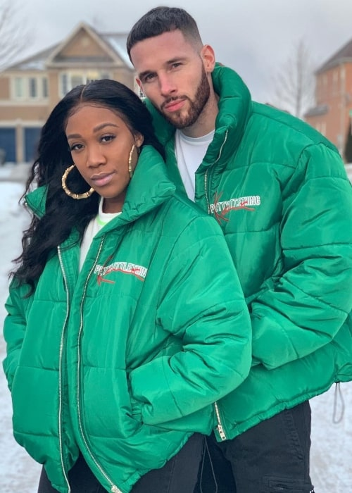 Keshia Rush as seen in a picture with her husband Tray Rush in February 2019