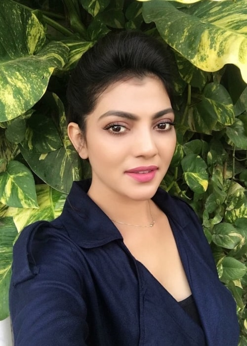 Lahari Shari as seen in a selfie that was taken in Hyderabad in the past