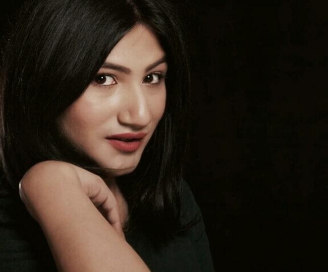 Mahika Sharma as seen while posing for the camera