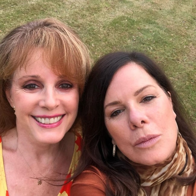 Marcia Gay Harden as seen in a selfie with her close friend Elaine Roecklein in November 2020