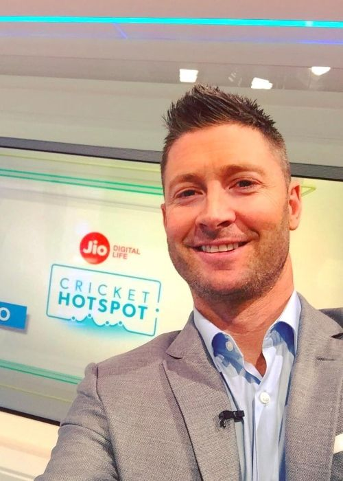 Michael Clarke as seen smiling in May 2017