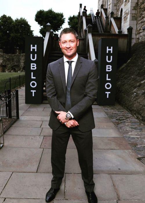 Michael Clarke seen in a picture taken in July 2019